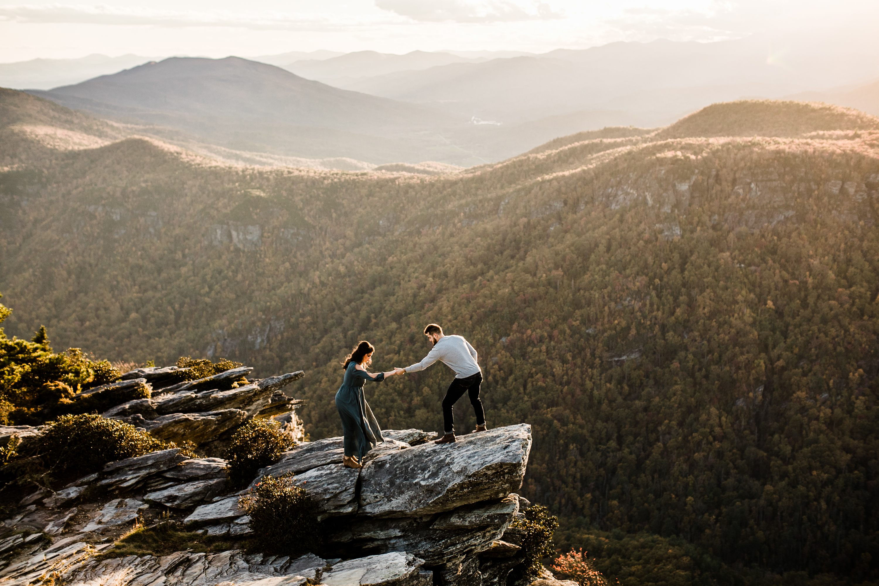 Adventure engagement shoot